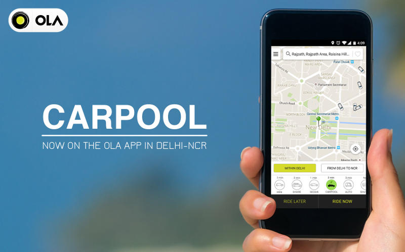 Ola Launches Private Carpool Feature In Delhi Ncr Technology News