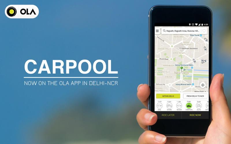 Ola Launches Private 'CarPool' Feature in Delhi NCR