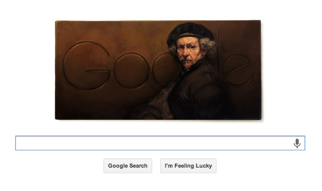 Rembrandt van Rijn remembered by a Google doodle