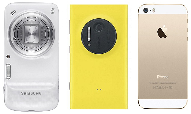 Samsung S4 Zoom Vs S4 iPhone 5s vs. Nokia Lu...