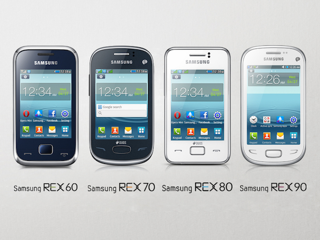 Samsung launches REX 60, REX 70, REX 80, REX 90 phones in India