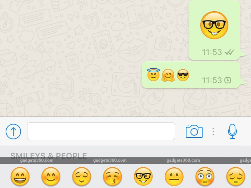 Whatsapp For Ios Gets Bigger Emojis Ability To Delete Multiple