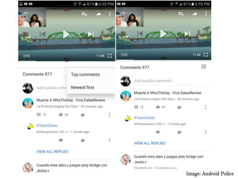 YouTube for Android Testing New Comment UI With Likes, Dislikes, and Replies
