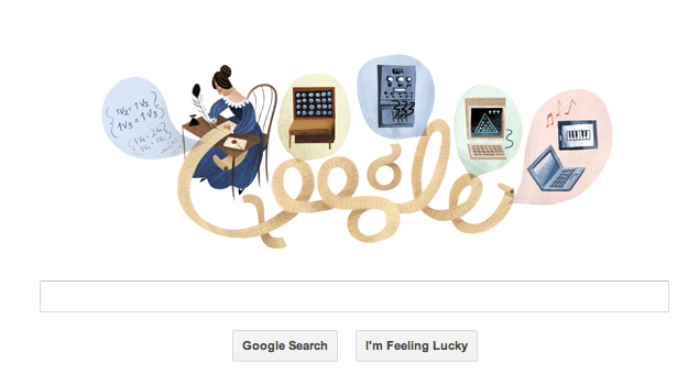 Google doodles a history lesson on Ada Lovelace's 197th birthday
