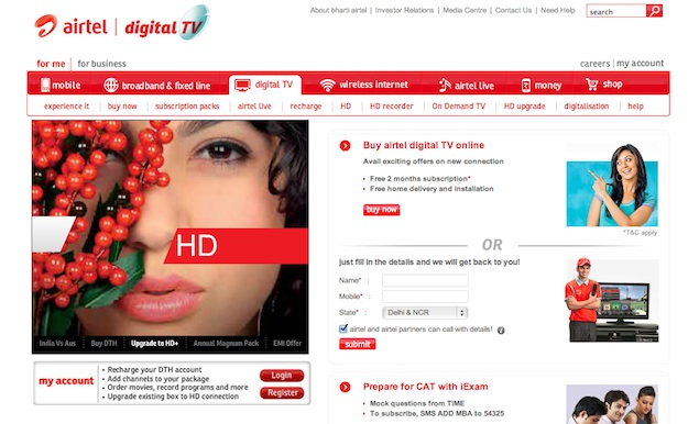 Airtel Digital TV launches new Twitter-focused service