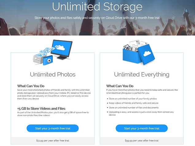 Amazon Cloud Drive Gets New Unlimited Storage Plans, Free Tier Removed