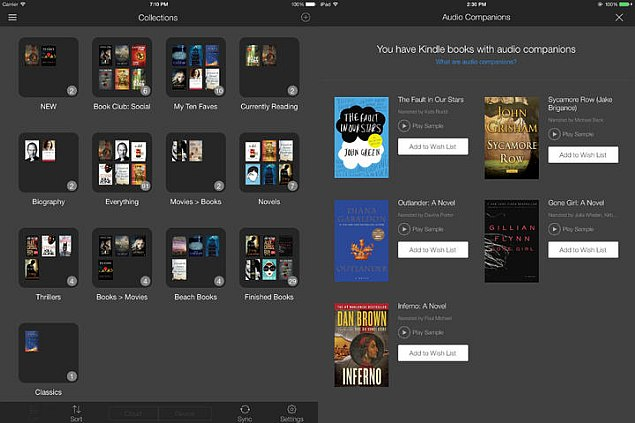how to use whispersync on kindle