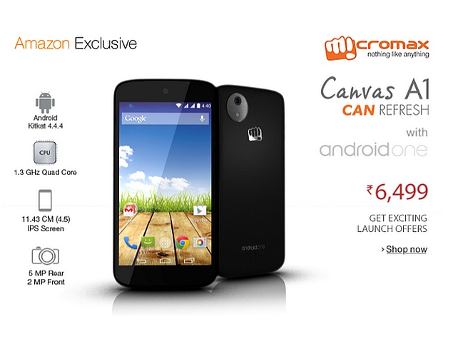 the best attitude 5642c 7cb56 Flipkart, Snapdeal and Amazon in Battle for Indian Android One ...