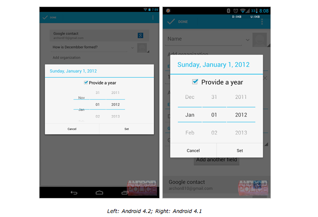 Google forgets to include 'December' in Android 4.2