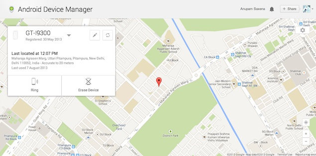 Android Device Manager Now Live Helps You Track A Lost Device