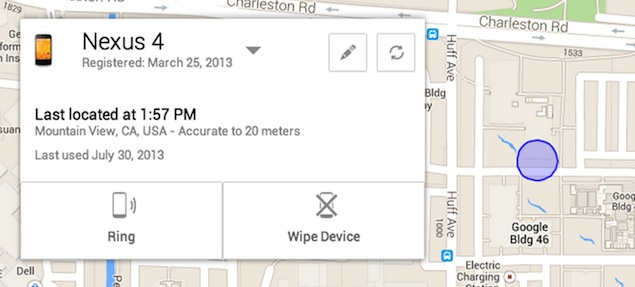 Google announces Android Device Manager to help you track a lost phone