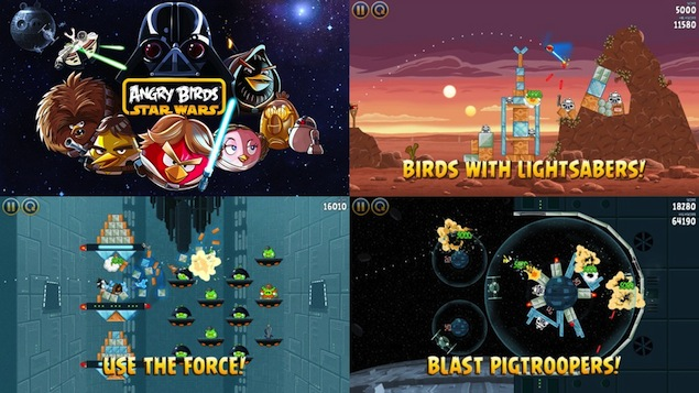 Angry Birds Star Wars becomes top iPhone, iPad app within hours of release