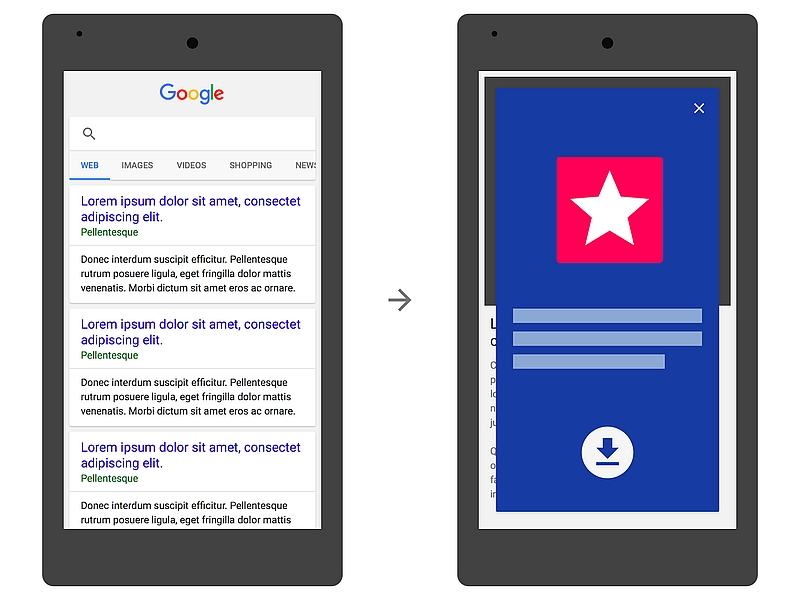 Google Starts Demoting Mobile Sites That Show Large App Install Ads