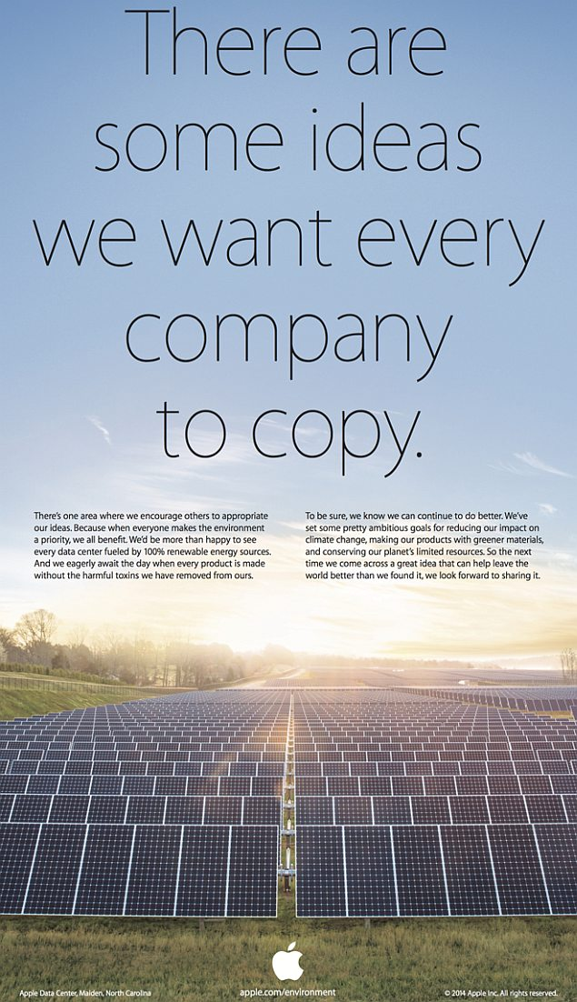 Apple's Earth Day ad asks Samsung and others to copy its ...