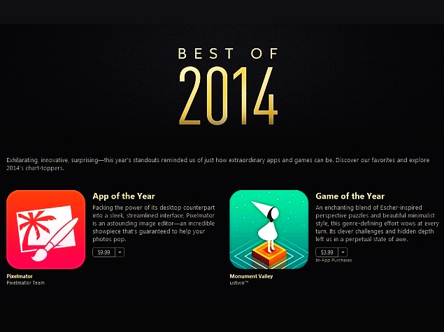 Apple Lists the 'Best of 2014' on iTunes With Top Apps, Music and More