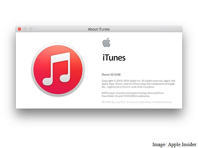 iTunes 12.1 for OS X Update Brings Notification Centre Widget, and More
