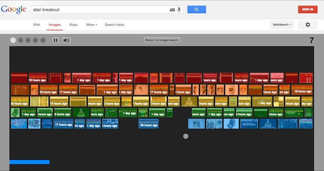 Type 'Atari Breakout' in Google Image search for an entertaining surprise
