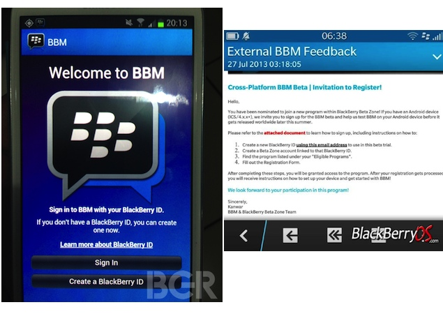 BlackBerry Messenger for Android spotted online, some users reportedly getting invites