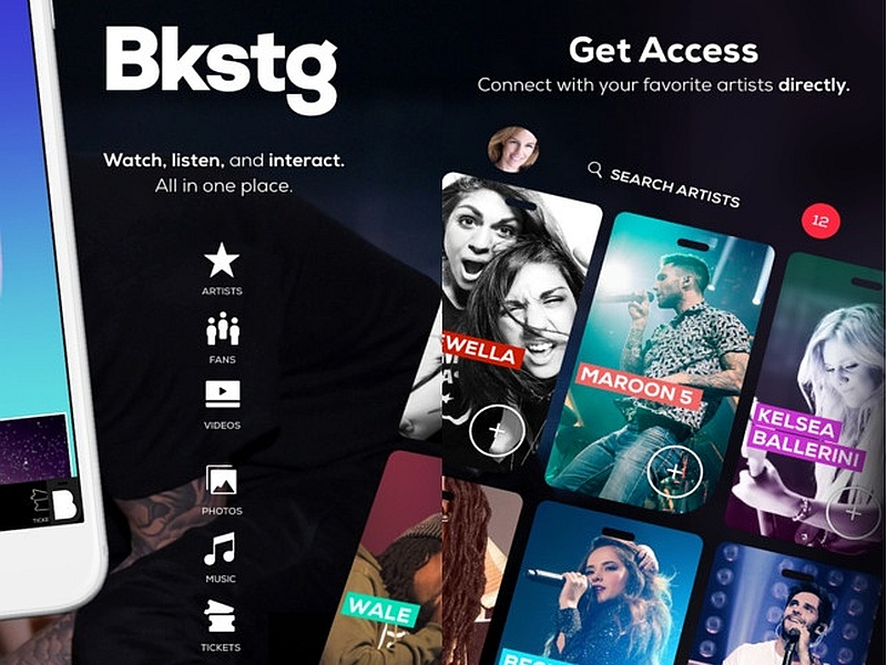 Bkstg App for iOS Launched to Connect Artists With Fans