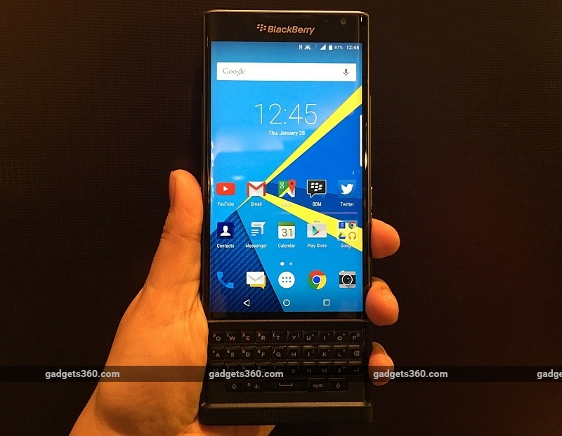 BlackBerry Priv Android Phone Launched in India: Price, Specifications, and More