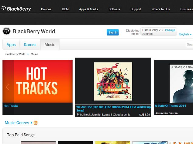 BlackBerry World Music and Video Stores Shutting Down on July 21