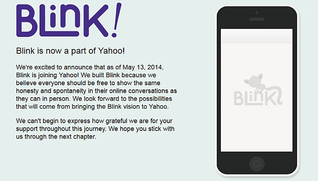 Yahoo Buys Blink Ephemeral Messaging App, Rival to Snapchat