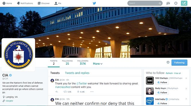 CIA Joins Facebook, Twitter to 'More Directly Engage With the Public'