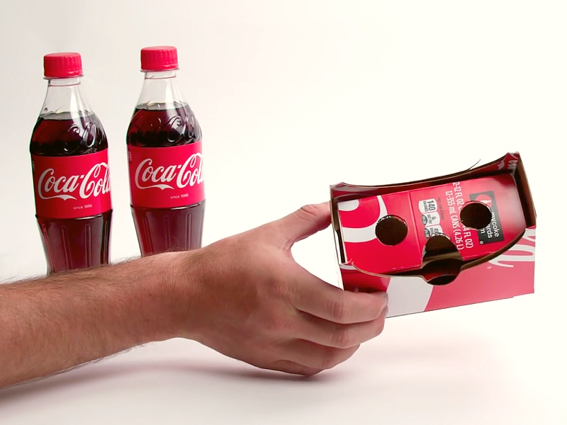 Coca-Cola Unveils VR Cardboard Headset for iPhone