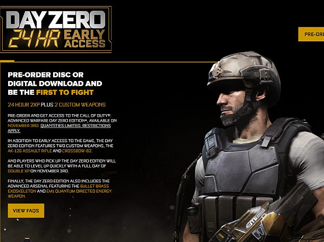 Call of Duty: Advanced Warfare Pre-Order Customers Get Early Access