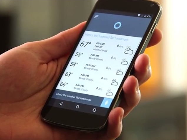 Microsoft's Cortana Virtual Assistant Is Headed to Android and iOS