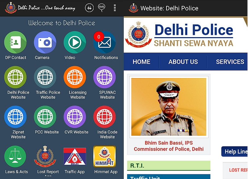 Delhi Police Launches Trial Version of Its 'One Touch Away' App