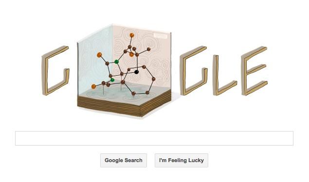 Google doodles Dorothy Hodgkin's 104th birthday