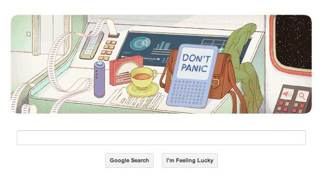 Douglas Adams' 61st birthday marked by Google doodle