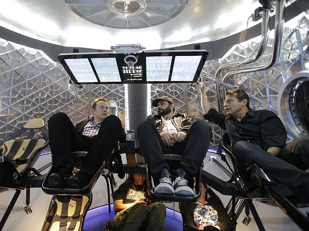SpaceX Unveils Dragon V2 Spacecraft to Ferry Astronauts to Low-Earth Orbit