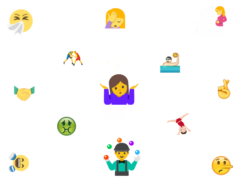 Unicode 9.0 Brings Selfie, Shrug, Facepalm, and More New Emojis