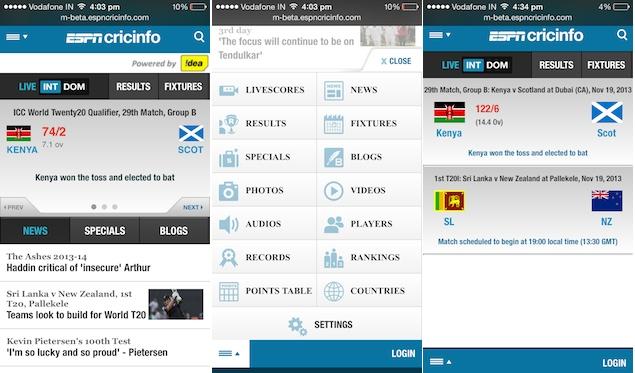 ESPNcricinfo updates mobile website, app updates coming soon
