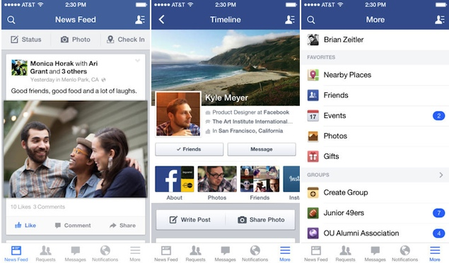 Facebook for iOS gets an iOS 7-style redesign