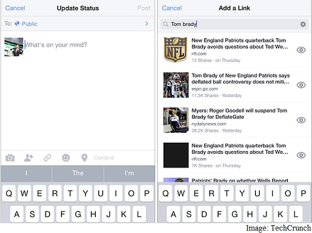 Facebook Testing 'Add a Link' Feature That Leverages Its Social Search