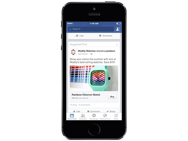Facebook Tests New 'Buy' Button for Online Purchases