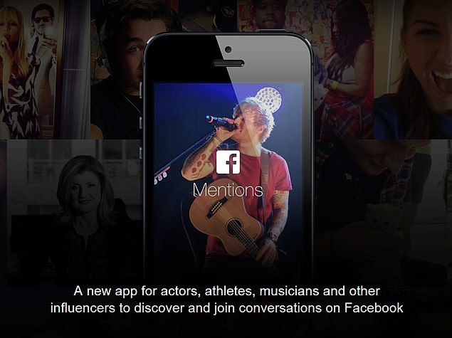 Facebook Mentions App for Celebrities Now Available in India and Other Countries