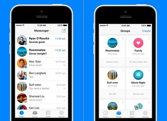 Facebook Messenger 4.0 app for iOS brings group chat, forwarding