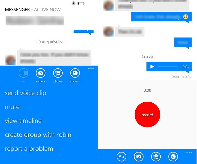 Facebook Messenger For Windows Phone Gets Emoticons And