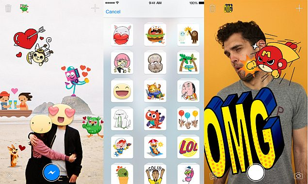 Facebook's Stickered for Messenger App Now Available for iOS
