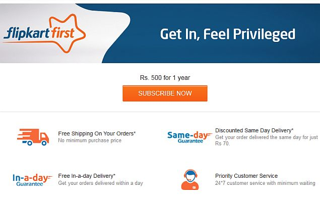 Flipkart First Launched; Offers Free Next-Day Shipping and More at Rs. 500 Per Year