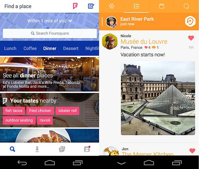Foursquare and Swarm: Discovery and Check-ins Reinvented