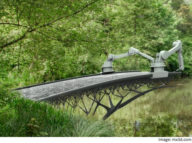Robot to 3D-Print Steel Canal Bridge in Amsterdam