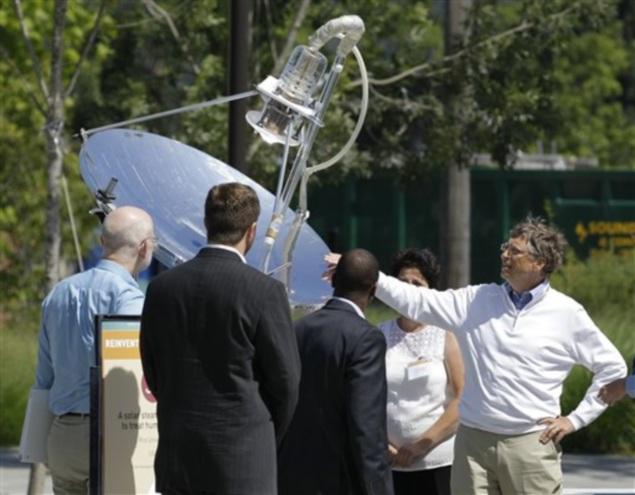 Bill Gates' Foundation puts money on solar-powered toilets