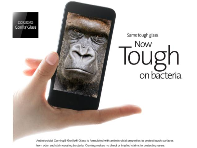 Corning unveils Antimicrobial Gorilla Glass 3 at CES 2014