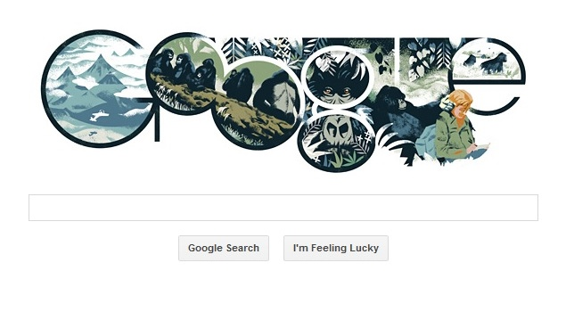 Dian Fossey's 82nd birthday marked with a Google doodle