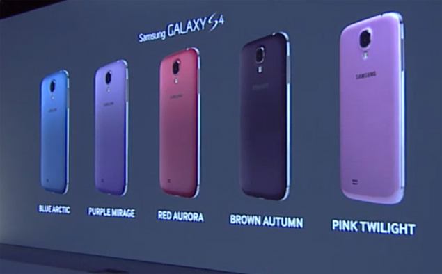 e3877d297f8e45 Samsung Galaxy S4 now available in seven different colours ...
